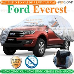 Bạt che phủ xe Ford Everest 3 Lớp Cao Cấp - OTOALO