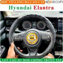 Bọc vô lăng xe Hyundai Elantra Da Cao Cấp Lót Cao Su Non - OTOALO