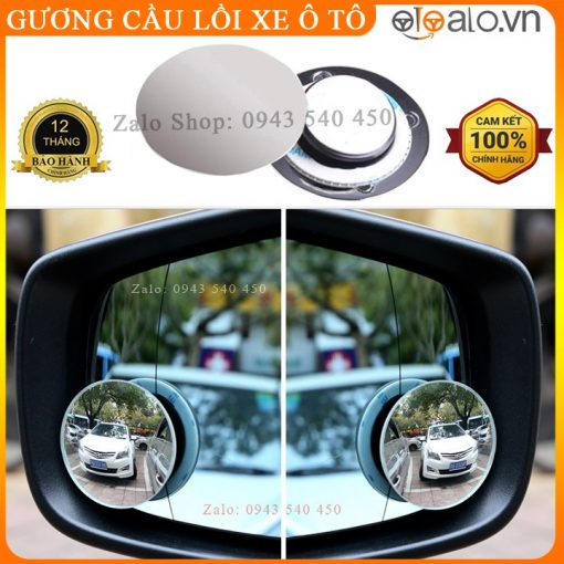 Gương cầu lồi xe ô tô gắn kính chiếu hậu xóa điểm mù xe hơi - OTOALO