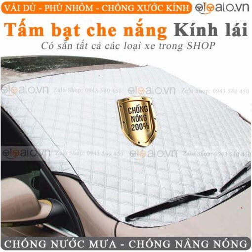 Tấm che chắn nắng kính lái xe ô tô 3 lớp cao cấp màu bạc - OTOALO