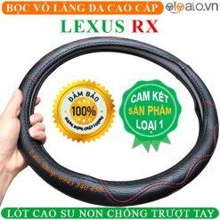 Bọc vô lăng xe Lexus RX Da Cao Cấp Lót Cao Su Non - OTOALO