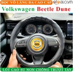 Bọc vô lăng xe Volkswagen Beetle Dune Da Cao Cấp Lót Cao Su Non - OTOALO