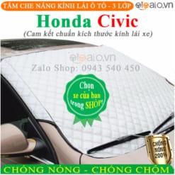 Tấm che nắng xe Honda Civic 3 Lớp Cao Cấp - OTOALO