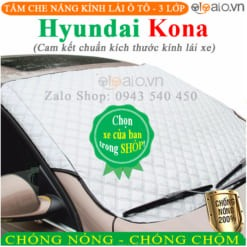 Tấm che nắng xe Hyundai Kona 3 Lớp Cao Cấp - OTOALO