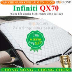 Tấm che nắng xe Infiniti QX70 3 Lớp Cao Cấp - OTOALO