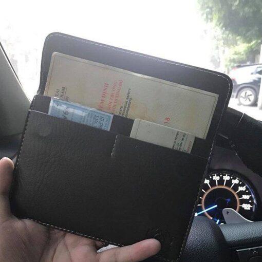 Ví da đựng giấy tờ đăng kiểm xe ô tô