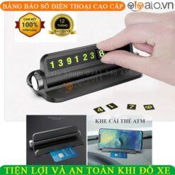 Giá đỡ điện thoại trên ô tô xe hơi kiêm bảng báo số điện thoại khi đỗ xe - OTOALO